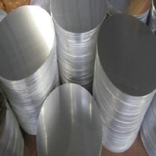 Abat-jour rond en aluminium à disque plat
