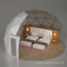 Transparent igloo dome tent camping tent clear glass igloo in winter in weekend dome tent
