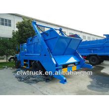 6000L camión de basura de contenedores con balde de basura tipo suelo