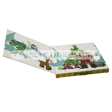 Calendrier de l'Avent en carton personnalisé pour cadeaux de Noël