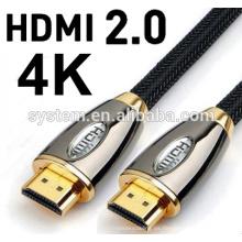 2016 VENTA CALIENTE 1M los 3M 5M los 10M los 30m V2.0 4K 60HZ 2160P Cable de HDMI con Ethernet para BLURAY 3D DVD PS 3 HDTV 360