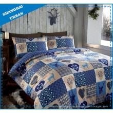 Weihnachts-Patchwork-Stil Polyester Bettbezug Bettwäsche-Set