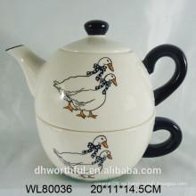 Tetera de cerámica al por mayor con la taza para la cocina casera