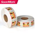 Customized waterproof die cut PVC label sticker printing