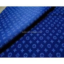 Джинсовая ткань с цифровым принтом для женского платья
