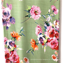 100% Rayon Slub Reactive Printed Fabrics Woman Dress