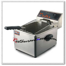 K598 Counter Top Digital Type Electric 1 Tank 1 Basket Fryer With Time Controller