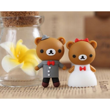 Cartoon Bear Bride Novio Usb Flash Drive