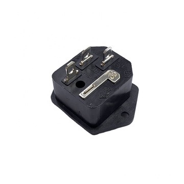 High quality 250V10A IEC JR-101-1F AC POWER 2 IN 1 SOCKET Connector Outlet Plug