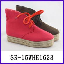 El zapato de lona único suave comforttable ocasional ata para arriba el cargador de la lona de las botas de la lona