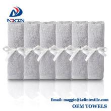 """Amazon hot sale 10""""x10"""" 100% bamboo baby washcloth towel gift set"""