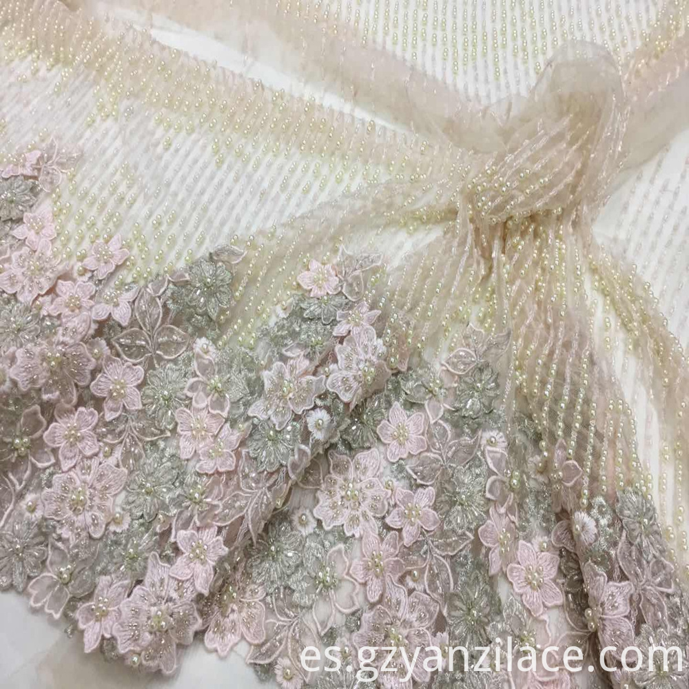 Beaded Lace Fabric Bridal