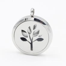 Pendentif de médaillon de diffuseur d'huile d'arbre pour les bijoux de collier de mode