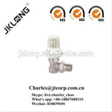Válvula de radiador de latón plateada en níquel SGS certificada