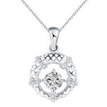 Moda Corea Joyería Centelleo cielo hueco redondo colgante en plata caliente regalo de venta