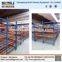 2015 heißer Verkauf Metall Carton Flow Rack warehouse-Walzen-Rack-system