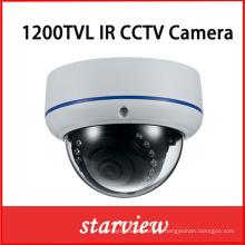 1200tvl IR Vandalproof fixe IR CCTV Dome caméra de sécurité