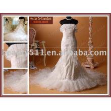 Mode populaire satin vente chaude nouvelle robe de mariée RB022