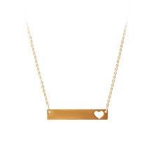 Delicate Gold Little Heart Charm Necklace Three Hearts Initial Necklace