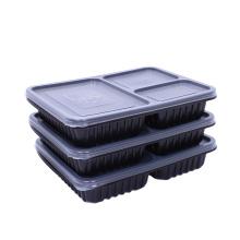 Boîte à lunch de rangement des aliments avec compartiment en plastique pour préparation de repas