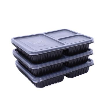 Fiambrera plástica del almacenamiento de la comida del compartimiento de la preparación de la comida