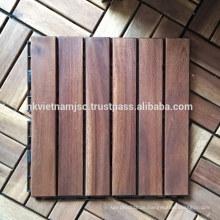 Außenverriegelung Acacia Deck Fliesen mit Kunststoff Basis 300 * 300 * 19 mm