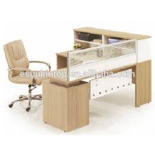 Secretária de escritório contemporânea, mesa de escritório de assento único com tela (KW824)