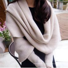 Poncho à tricoter décontracté pour femme