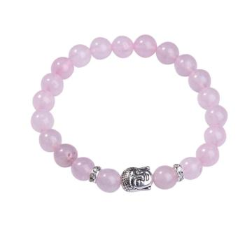 Natural Rose Quartz 8MM Gemstone Buddhism Prayer Beads Bracelets