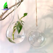 frasco de flor de vidro hydroponics pendurado vaso