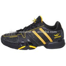 2014 nouvelles chaussures de tennis en cuir noir pu hommes