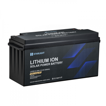 Batterie solaire rechargeable LiFePO4 12.8V200AH