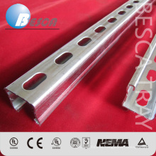Unistrut Manufacture HDG Electrical C Strut Channe Soporte Proveedor