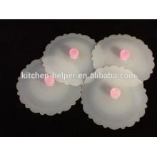 Tapas de la tapa de la taza de silicona de calidad superior superventas
