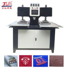 Zwei Köpfe Kleidung Patches Pressmaschine