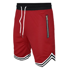 Men's Athletic Training Gym shorts with zipper pocket