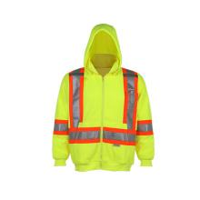 Sweat-shirt de sécurité hautement réfléchissant en molleton 100% polyester