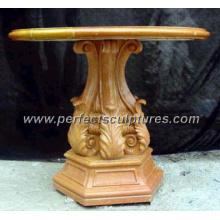 Antigua mesa de mármol de piedra jardín para la decoración del jardín (qtb020)
