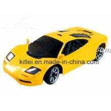 Mini coche amarillo del juguete