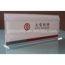 Volle Acrylzelt-Karten-Anzeige für Bank-Gebrauch