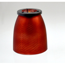 2015 Red Candle Holder with Stars (DRL15035)