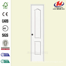 24 in. x 80 in. Smooth 2-Panel Eyebrow Top Solid Core Painted Molded Single Prehung Interior Door