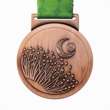 High quality round shape raised metal bronze medal