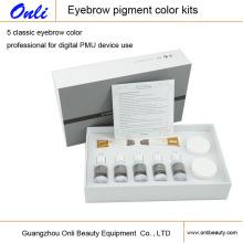Kit de maquillage permanent de couleur pigmentaire à sourcils