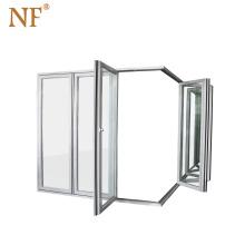 Soundproof folding patio partition screen door