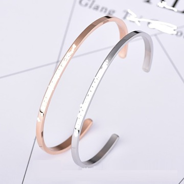 Rose Gold Plated Thin Cuff Bangle For Women