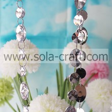 Latest Design Wholesale Oval & Round Clear Spacer Loose Acrylic Material Handmade Bead Curtain Strand Link For Living Room
