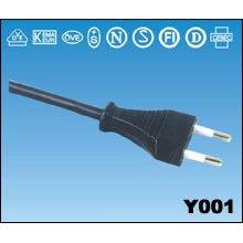 Cable de alimentación VDE de enchufes de estilo italiano cable tipo Europa