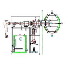 Único braço estéril secador de vácuo giratório