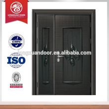 Design de porta principal frontal à prova de balas de aço de luxo, design de portas dianteiras com classificação contra fogo Qualidade Escolha